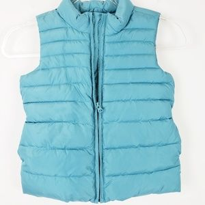 GAP KIDS - Turquoise Puffer Vest Size 6/7